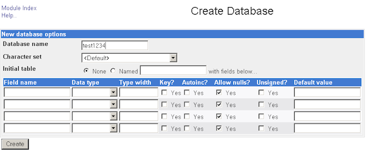 Calendar Database Design Mysql : Mysql when a table was created